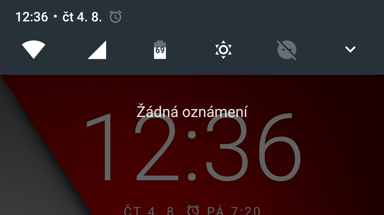 Počasí do rychlého nastavení [Android 7.0]
