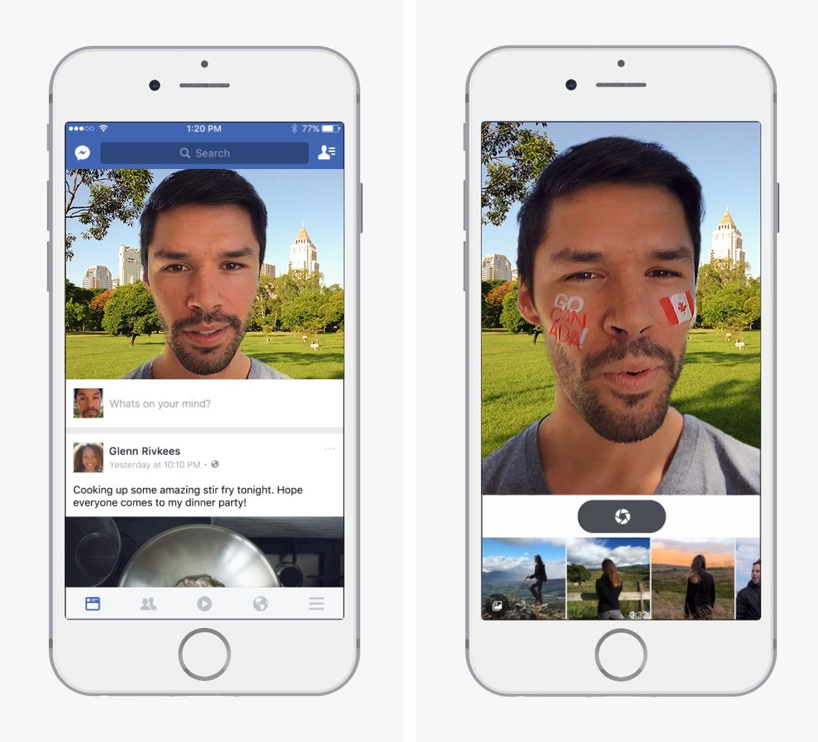 Facebook přidává filtry pro fotky a videa podobné Snapchatu