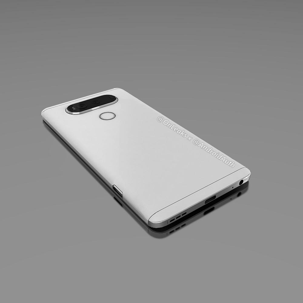 Unikl další render LG V20, odhaluje přední stranu [aktualizováno]