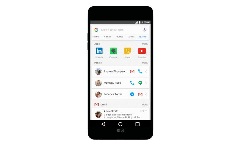 """Google představuje """"In Apps"""" vyhledávání"""