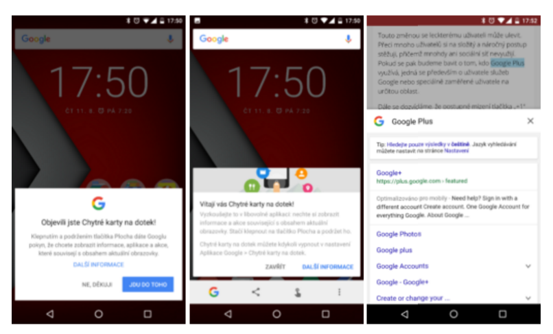Google Now On Tap přichází do Česka