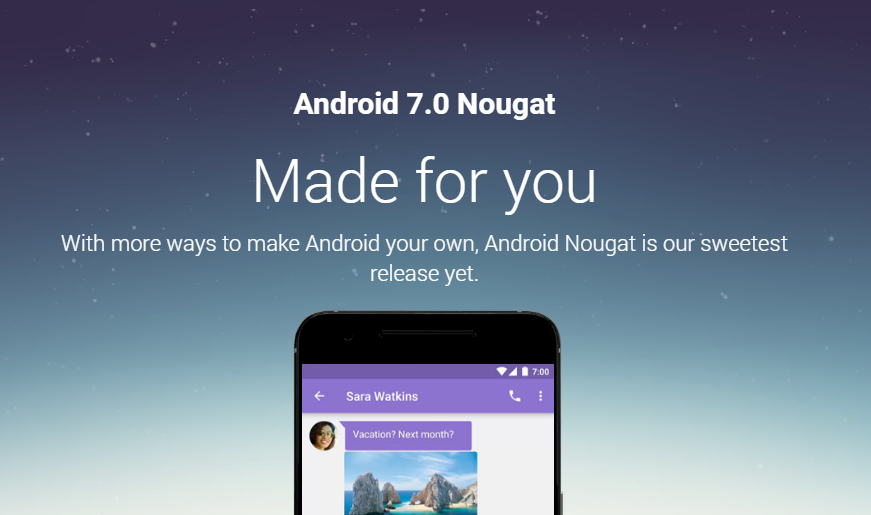 Android 7.0 Nougat oficiálně [aktualizováno]