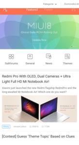 Xiaomi MIUI Forum – Aplikace pro Android ve službě Google Play