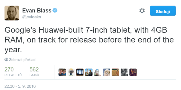 7palcový tablet