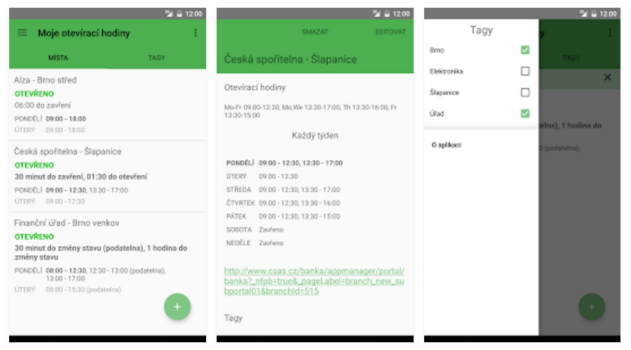 Moje otevírací hodiny – nová verze vydařené aplikace
