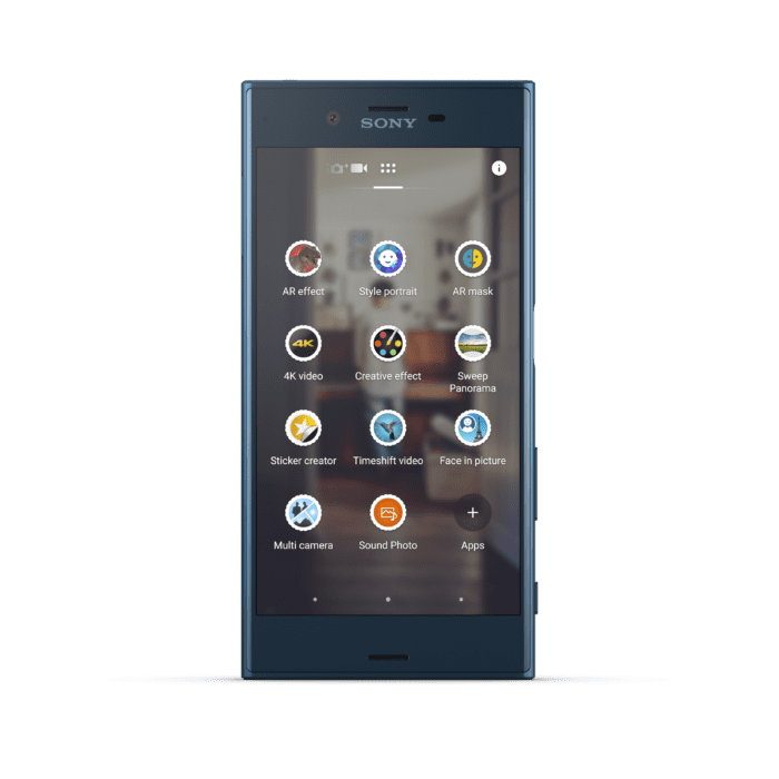 Sony XZ Forest Blue Front 1
