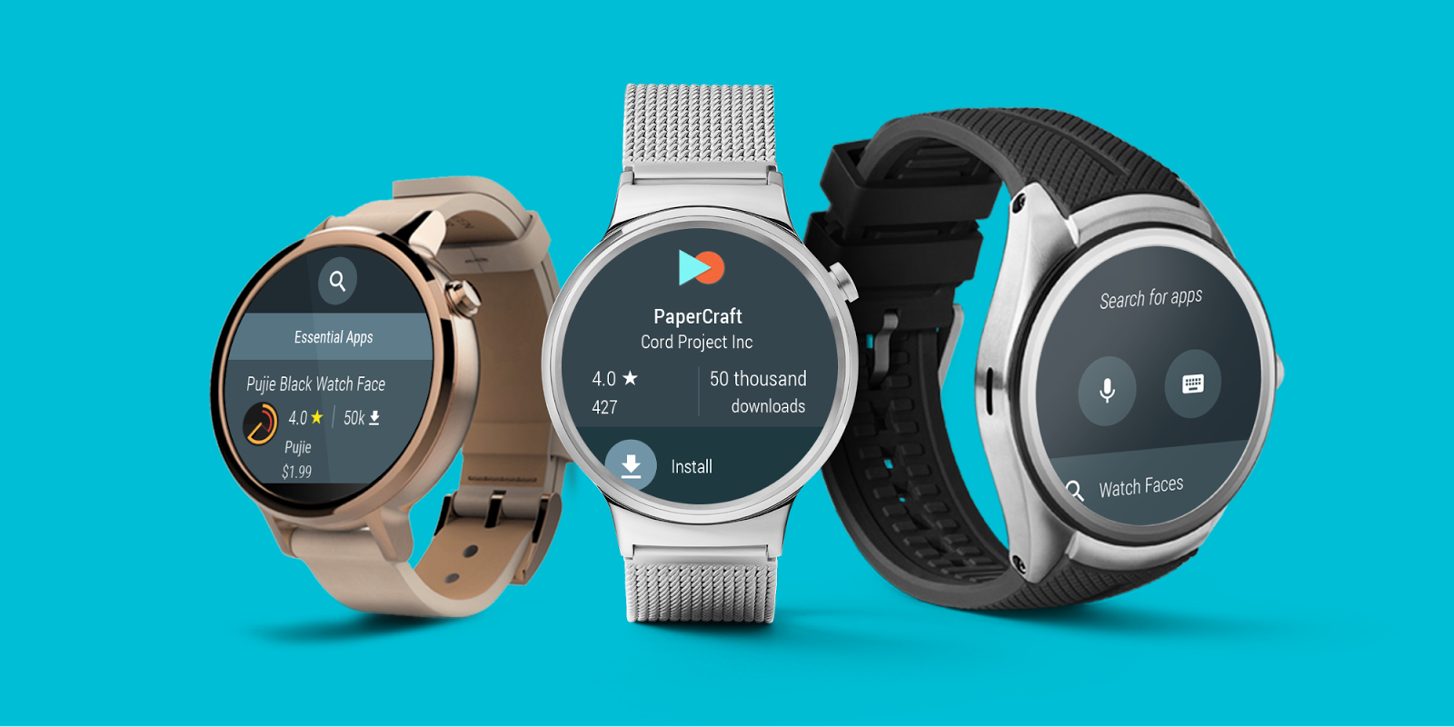 Android Wear 2.0 Developer Preview 3 – Obchod Play