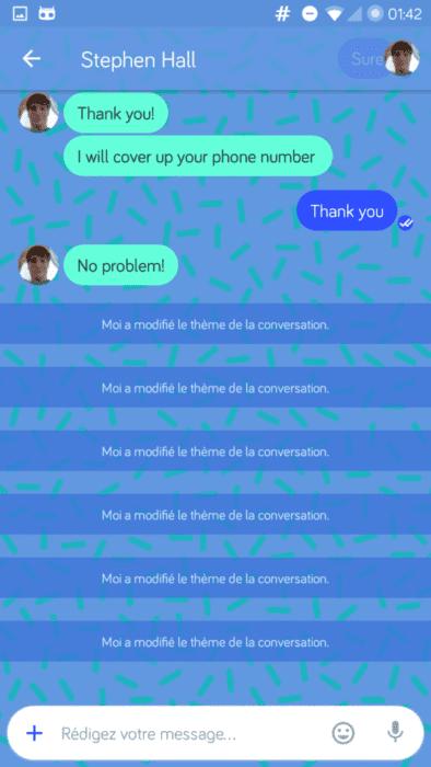 Allo, téma konverzace
