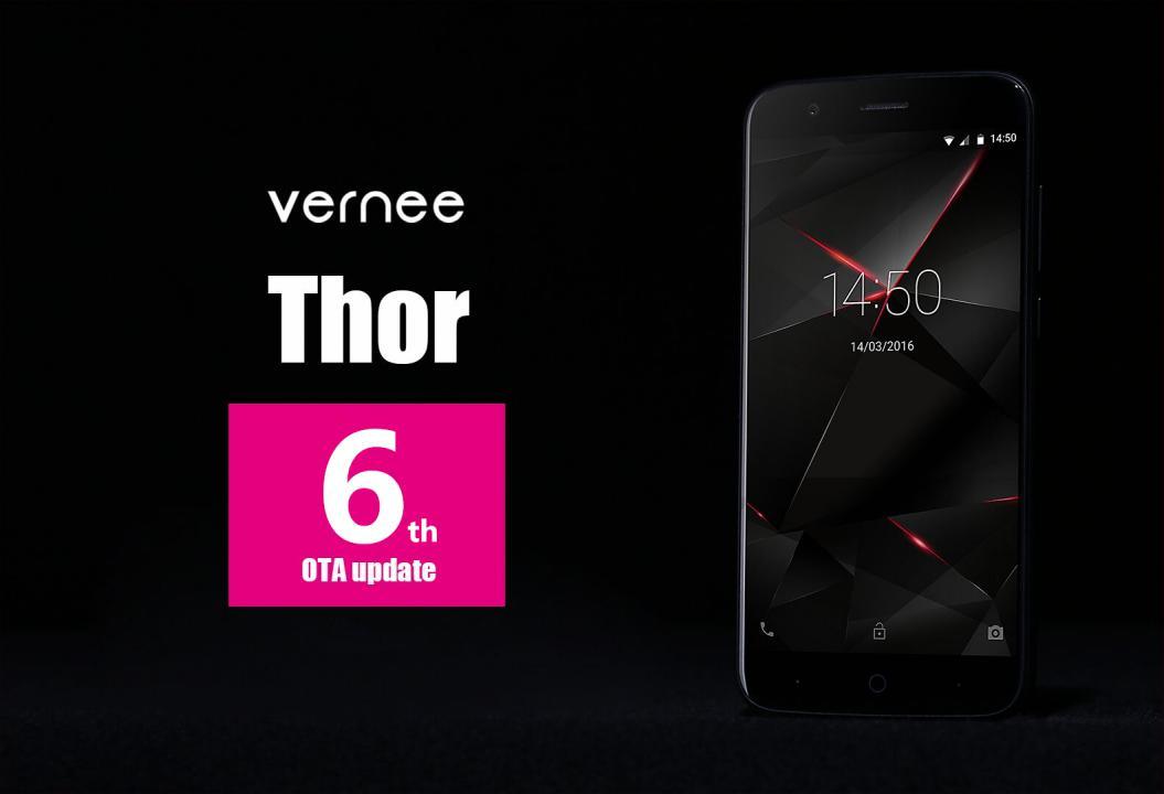 Vernee Thor dostává šestou aktualizaci, přináší drobná vylepšení