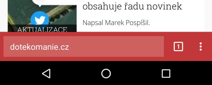 Chrome Home přesune vyhledávací lištu dolů [nestabilní]