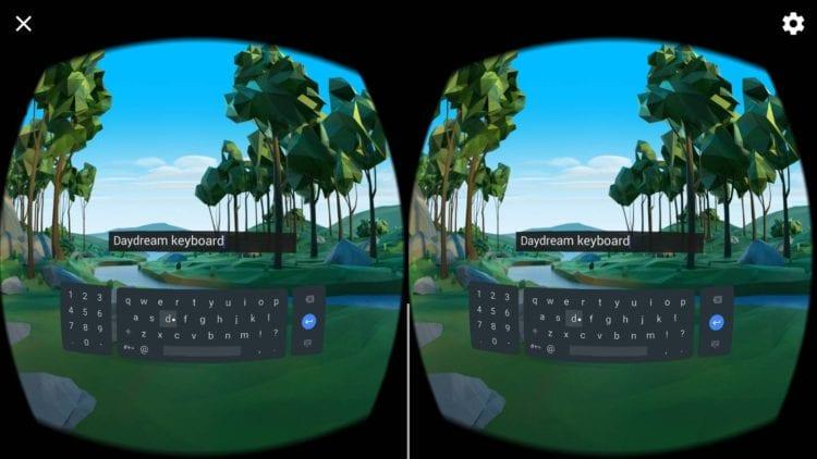 klávesnici pro virtuální realitu