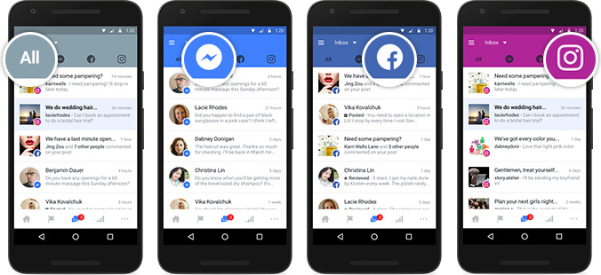 Facebook, Messenger a Instagram