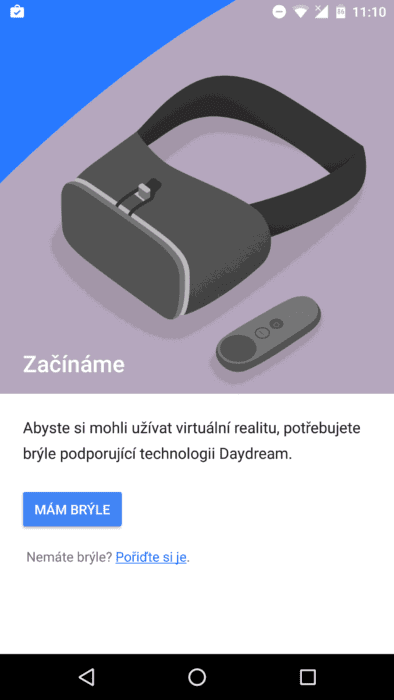 Aplikace Daydream