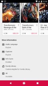 Google Play Filmy