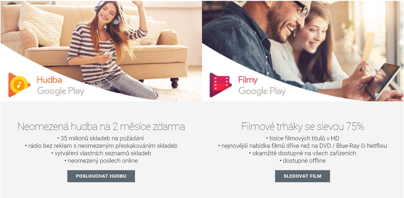 Google a Mastercard – 75% sleva na film a dva měsíce Hudby Play zdarma