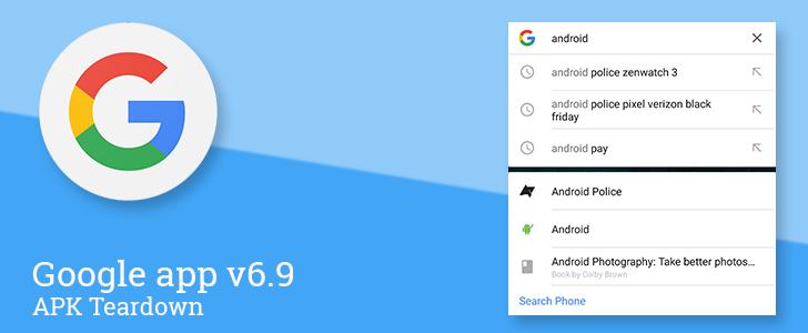 Aplikace Google 6.9 odhaluje mnoho nového
