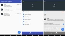 Aplikace Custom Quick Setting se dočkala výrazné změny, přináší lepší úpravu položek