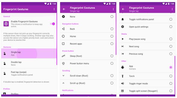Využijte čtečku otisku prstů naplno pomocí gest [Android]