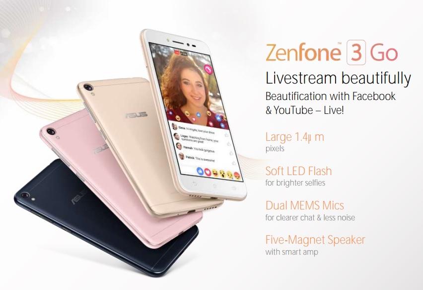 Nový Zenfone 3 Go od Asusu je zaměřen na mladou generaci