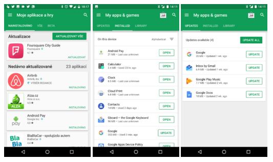 Obchod Play – nová podoba instalovaných aplikací [aktualizováno]