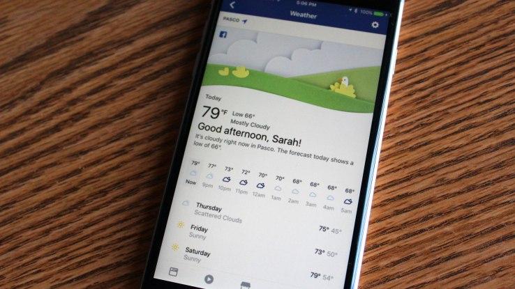 Facebook přináší vlastní předpověď počasí