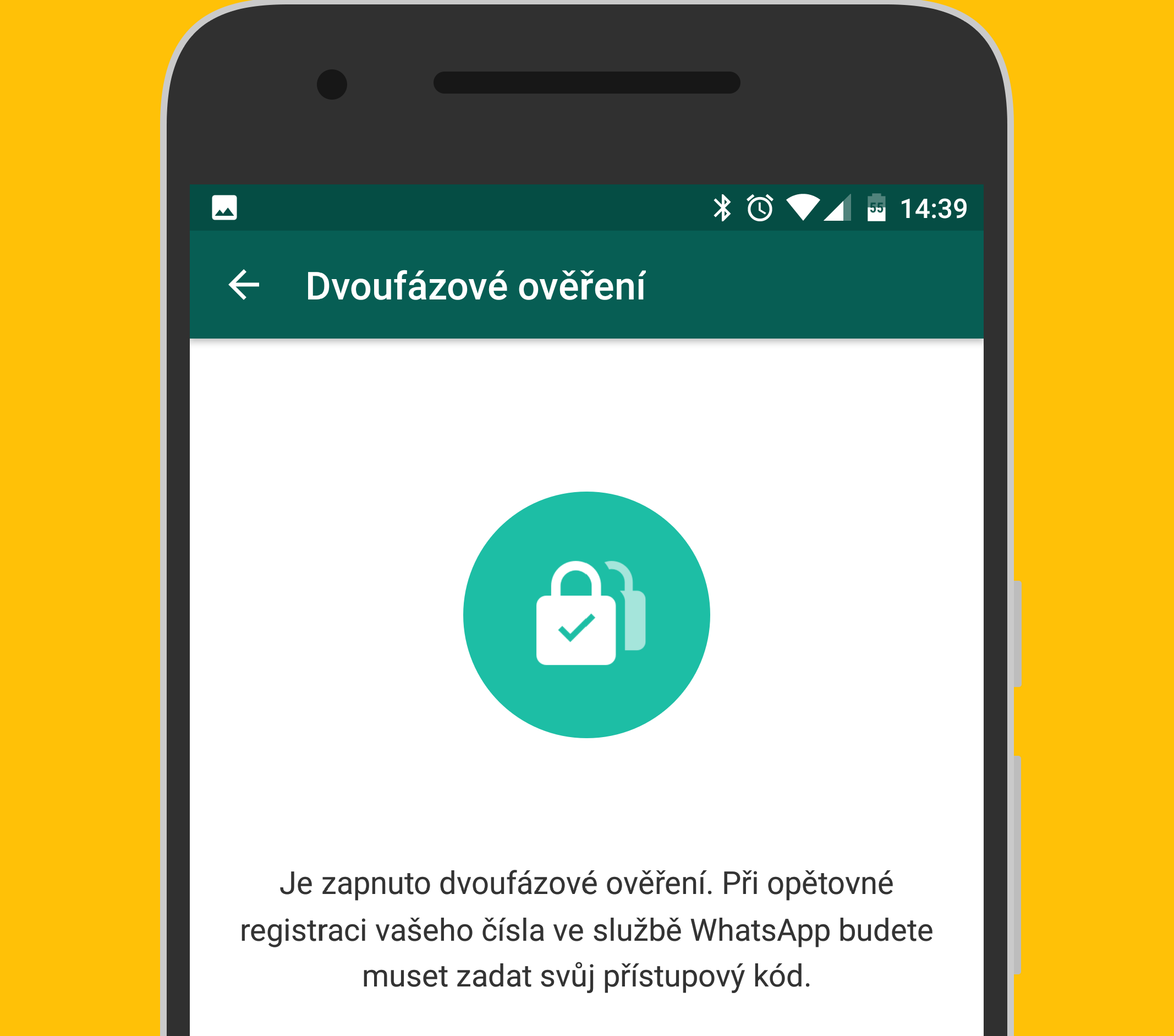 WhatsApp zavádí dvoufázové ověření
