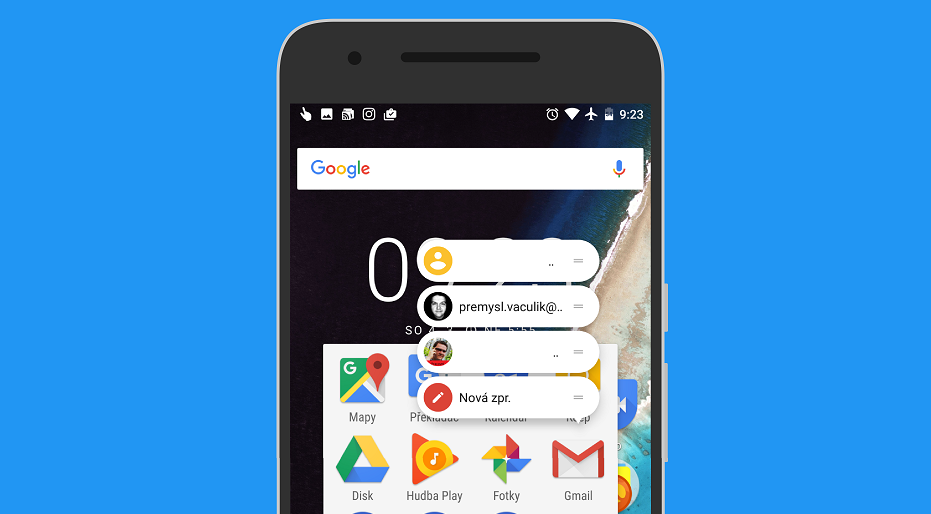 Gmail 7.2 rozšiřuje zkratky a podporu Exchange účtů