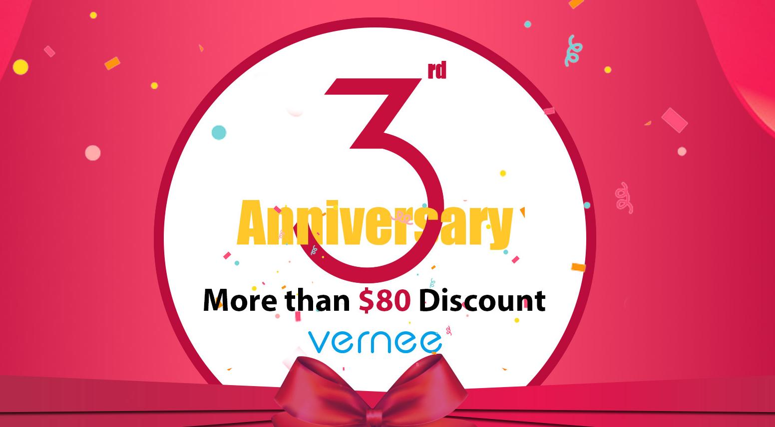 Vernee slaví a pro zákazníky má veliké slevy [sponzorovaný článek]