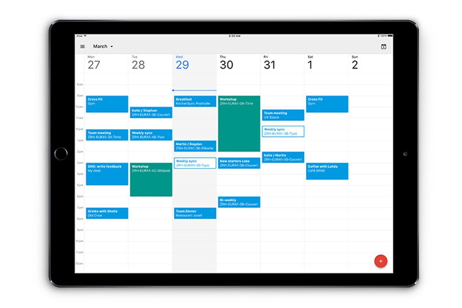 Aplikace Google Kalendář je nyní připravena také pro iPady