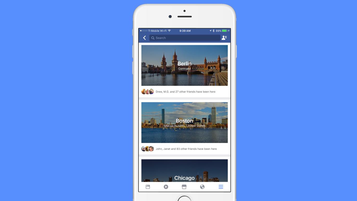 Facebook pracuje na zcela novém průvodci měst