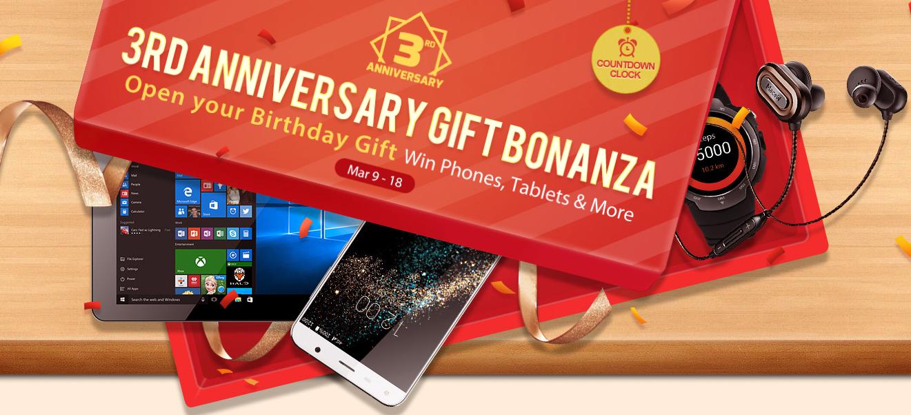 Gearbest slaví 3. narozeniny a rozdává spoustu cen [sponzorovaný článek]