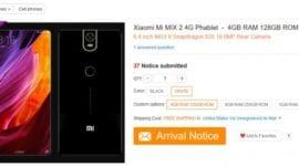 Xiaomi Mi Mix 2 – odhalen u čínského prodejce?