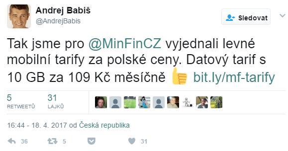 Ministerstvo financí si vyjednalo neomezený tarif s 10 GB za 109 Kč