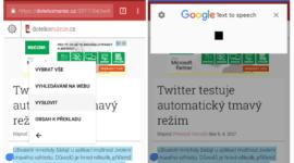 Převod textu na řeč Google plně podporuje češtinu