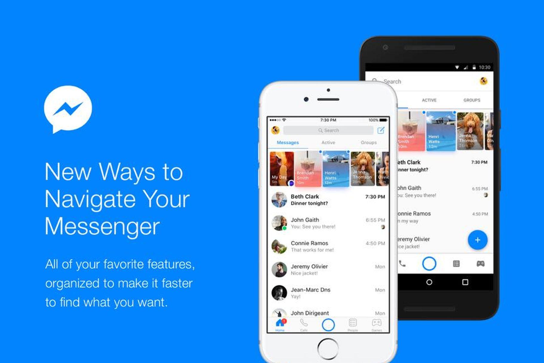 Messenger nově nabízí lepší organizaci domovské obrazovky