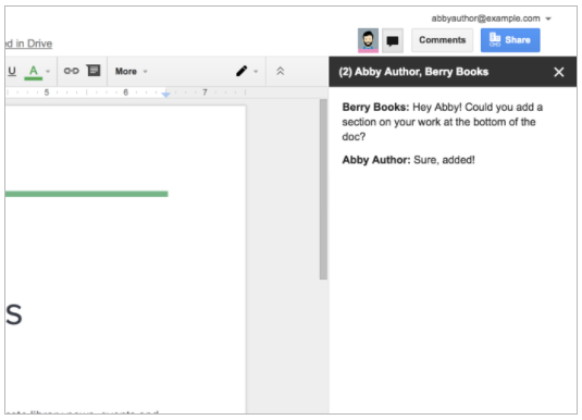 google docs chat dem