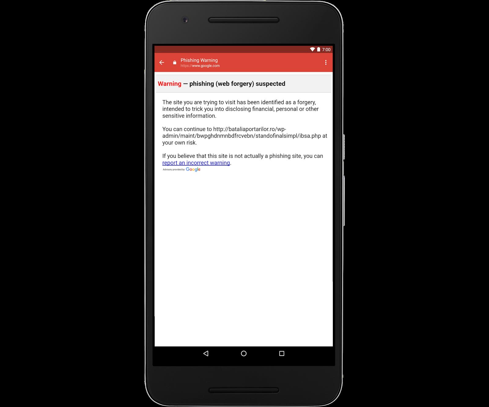 Gmail pro Android získává ochranu proti phishingu