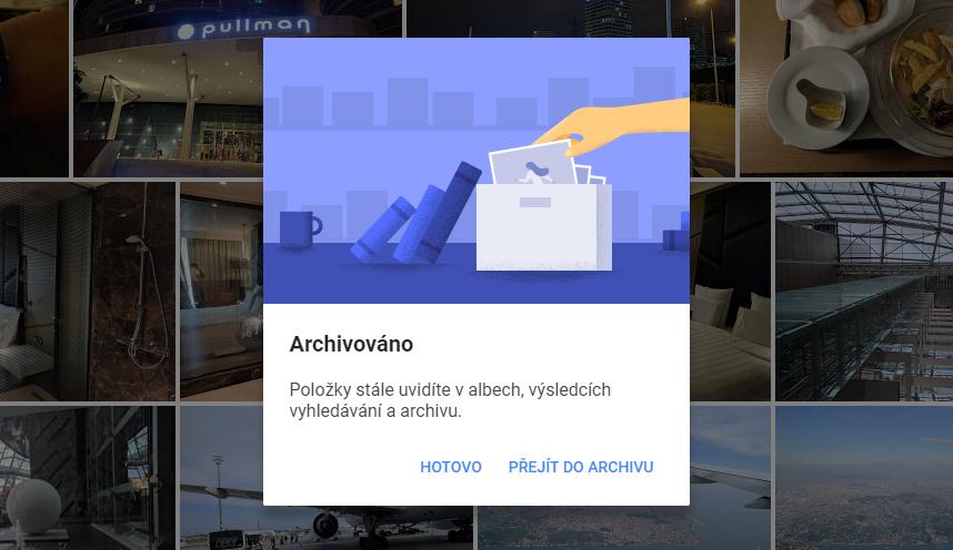 Google Fotky získávají možnost archivace