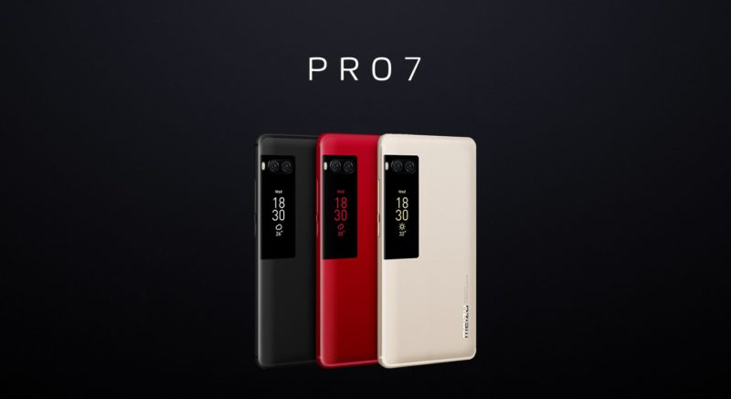Meizu představilo modely Pro 7 s dvěma displeji