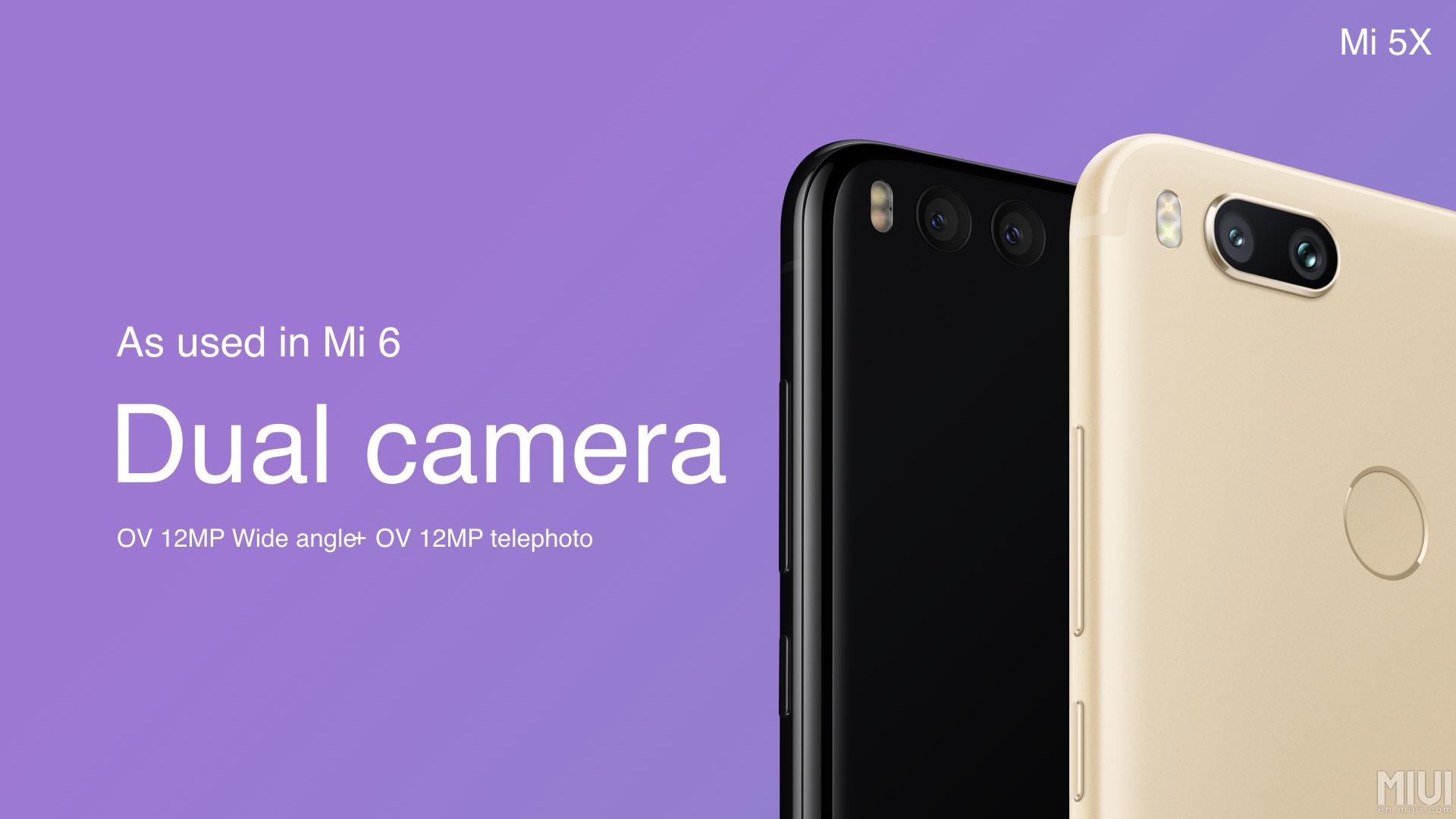 Oficiálně: Xiaomi Mi 5X s dvojnásobným optickým zoomem