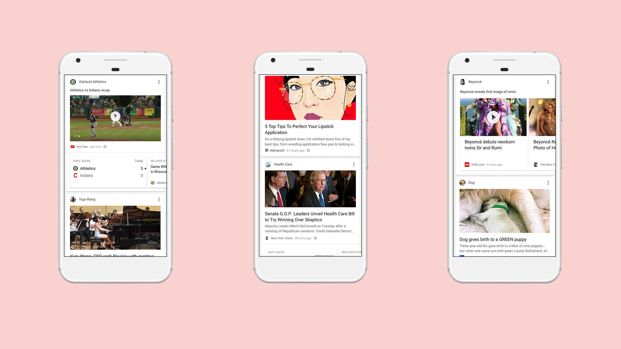 Google Feed získává větší aktualizaci