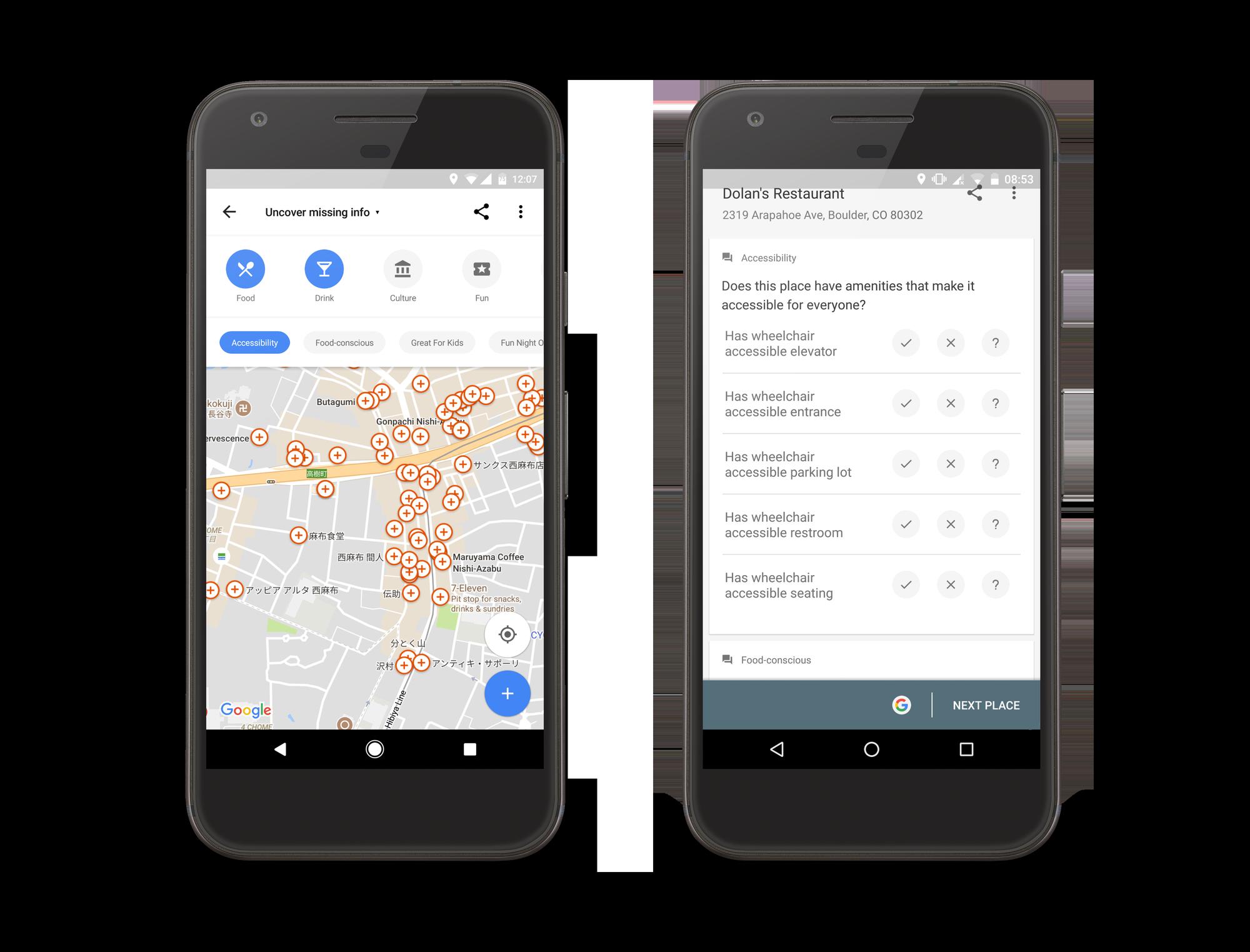 V Google Mapách můžete vylepšit přístupnost