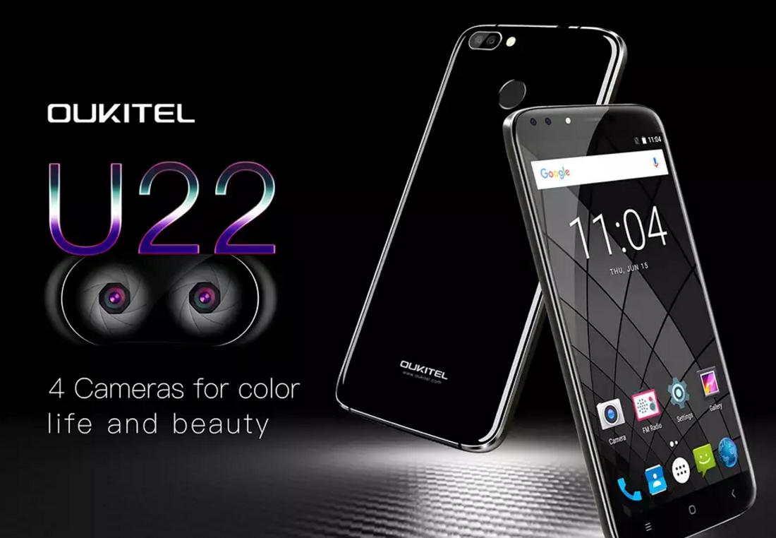 Oukitel U22 – levný smartphone se 4 foťáky