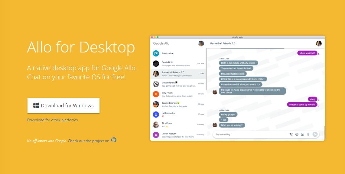 Allo má alternativního klienta pro desktop