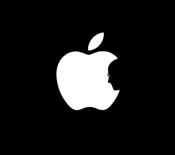 Apple logo Steve Jobs silhouette