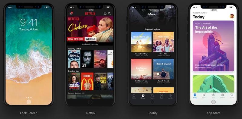 Designer zveřejnil, jak by mohly vypadat aplikace na iPhonu 8