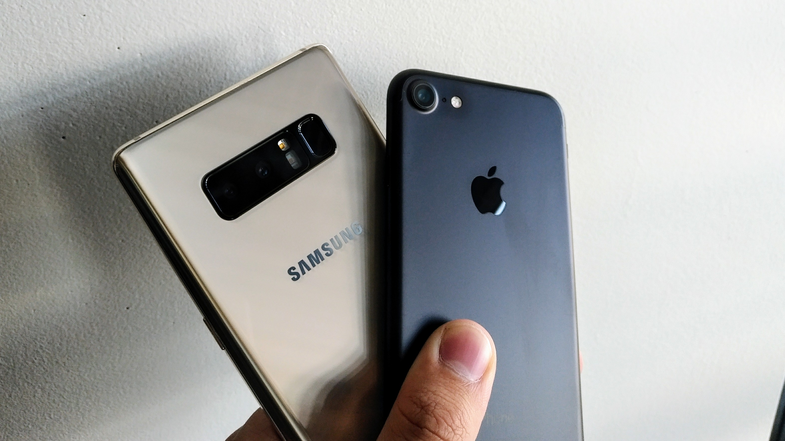 Fototest: Galaxy Note 8 vs. iPhone 7