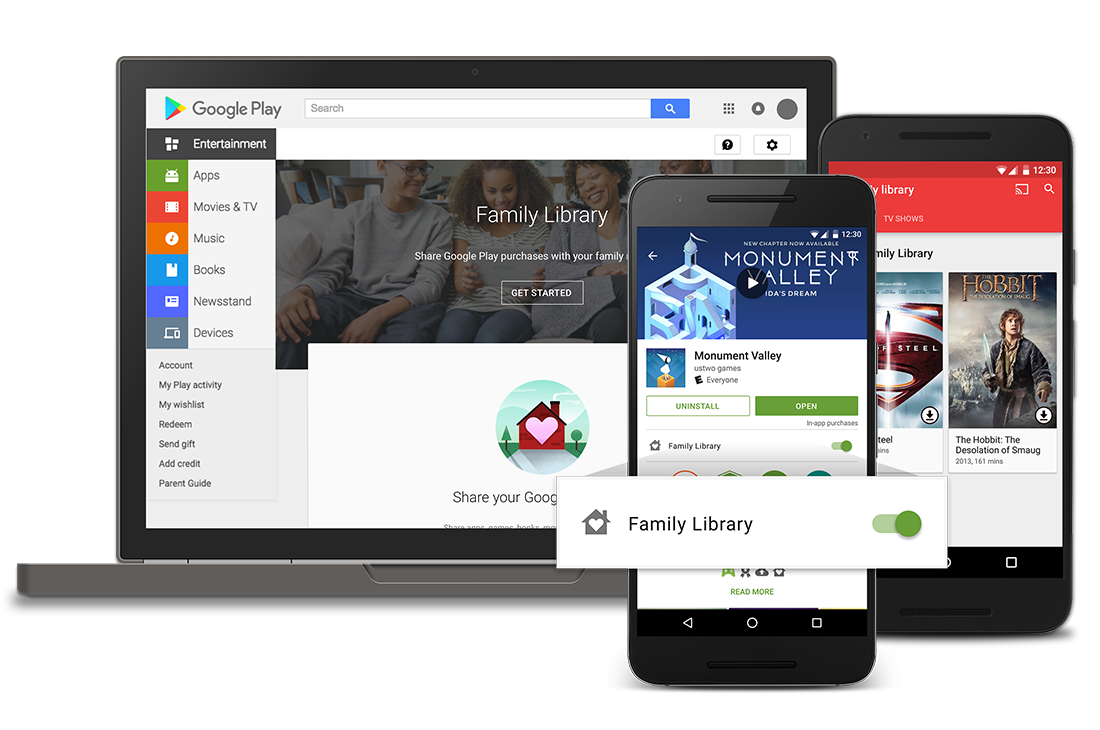 Rodinná mediatéka Google Play oficiálně v Česku