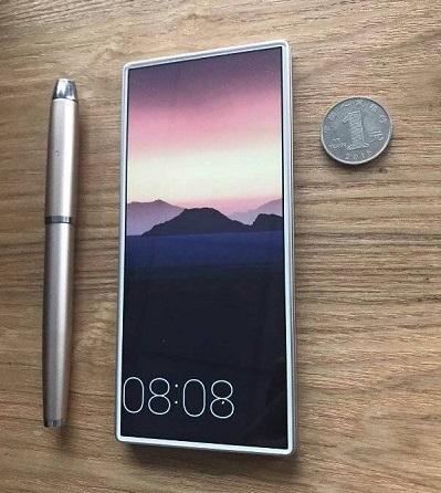 Koncept mobilu s maximálním využitím přední strany pro displej