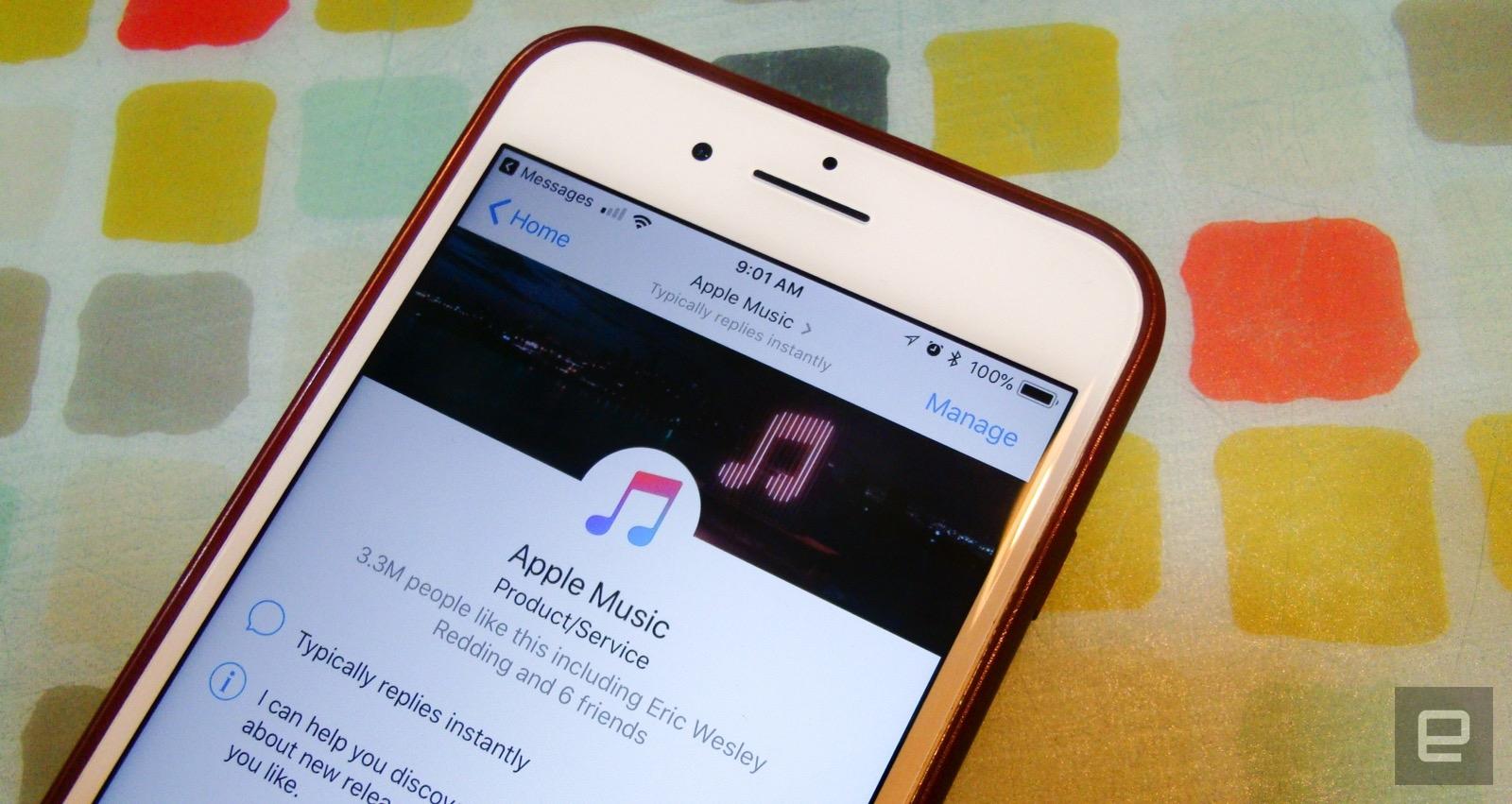 Apple Music je konečně dostupné uvnitř v Messengeru